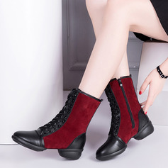 Vrouwen Kunstleer Suede Laarzen Dans Sneakers modern Jazz Dans Sneakers Dance Boots Dansschoenen