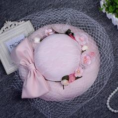 Senhoras Bonito Algodão com Flor de seda Fascinators