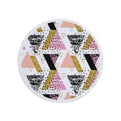 Geometrisk tryck överdimensionerad/rund handduk