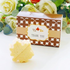 """Fall in Love"" Scented Leaf-Shaped Soap Wedding Favors"