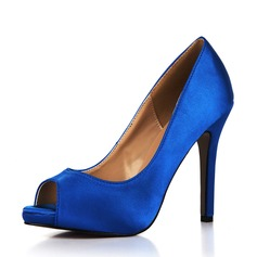 Women's Plastics Stiletto Heel Pumps Peep Toe shoes