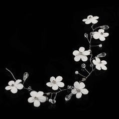 Rhinsten/Legering/Silke Blomst Pandebånd med Rhinsten (Sælges i et enkelt stykke)