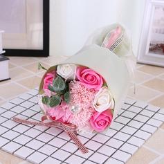 Круглый Мыло цветок Свадебные букеты (продается в виде одной детали) -