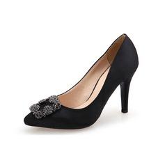 Vrouwen Suede Stiletto Heel Pumps met Strass schoenen