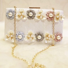 Charming Imitation Pearl Clutches (012108512)