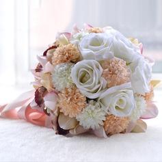 Lindo Redondo Seda artificiais Buquês de noiva