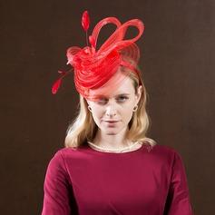 Damer' Mode/Hög Kvalitet/Romantiskt/tappning utformar polyester med Fjäder Fascinators