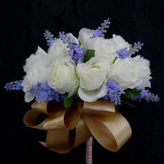 Special Hand-tied Satin Bridesmaid Bouquets (123031370)