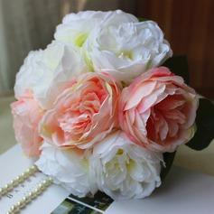 Élégante Rond Satiné Bouquets de mariée -