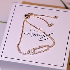 Unique Copper With Zircon Women's Fashion Bracelets