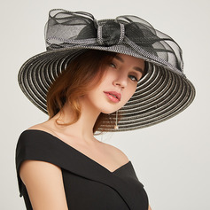 Ladies ' Classic/Smuk Papyrus med Bowknot Strand / Sun Hatte/Kentucky Derby Hatte/Tea Party Hats