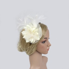 Damer' Klassisk stil Fjäder/Netto garn Fascinators