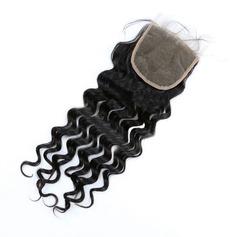 """4""""*4"""" 5A Jungfrau / Remy Tief Menschliches Haar Bedeckung (Einzelstück verkauft) 100g"""