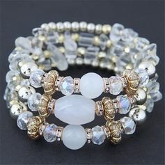 Brillant Alliage Résine Dames Bracelets de mode