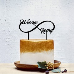 Personalizado Pareja Clásica Acrílico Decoración de tortas