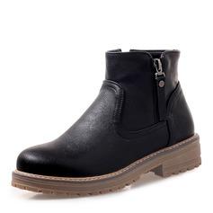 Kvinder Kunstlæder Flad Hæl Platform Støvler Ankelstøvler sko