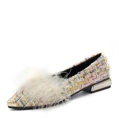 Donna Panno Senza tacco Ballerine Punta chiusa scarpe