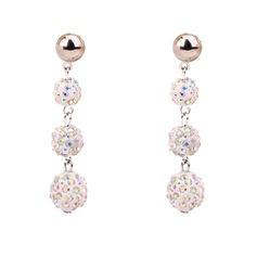 Shining Alloy Rhinestones Fashion Earrings