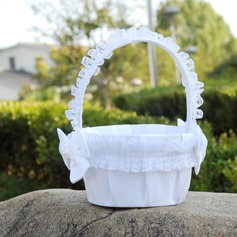 Elegant Flower Basket in Cloth With Lace