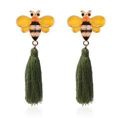 Sexig Legering Strass med Strass Kvinnor Mode örhängen