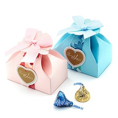 Sweet Love Cuboid Favor Boxes With Bow (Set of 12)