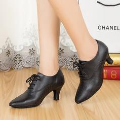 Женщины Натуральня кожа На каблуках качать с В дырочку Обувь для танцев
