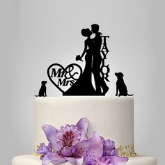 Personalized Classic Couple Acrylic Cake Topper