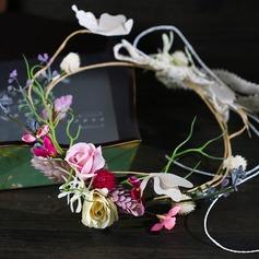 Дамы Элегантные шелковые цветы ободки (Продается в виде единой детали)