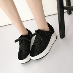 Kvinnor Mocka Kilklack Kilar med Bandage skor