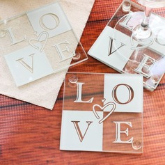 Love Glass Coaster (Set of 2)
