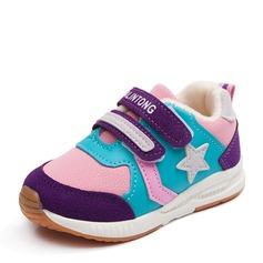Mädchens Geschlossene Zehe Leder Flache Ferse Flache Schuhe Sneakers & Sport mit Klettverschluss