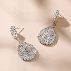 Élégante Alliage/Cristal Dames Boucles d'oreilles