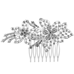 Ladies Exquisite Alloy Combs & Barrettes With Rhinestone (Sold in single piece)