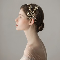 Ladies Exquisite Alloy Combs & Barrettes With Venetian Pearl (Sold in single piece) (042182528)