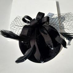 Dames Spécial Coton avec Tulle Chapeaux de type fascinator/Chapeaux Tea Party