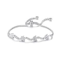 Delicate Chain Bridal Bracelets Bridesmaid Bracelets Bolo Bracelets - Valentines Gifts For Her (106215275)