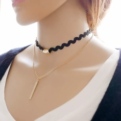 Vackra Och Legering Spets med Spets Damer' Mode Halsband