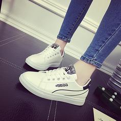 Женщины PU Плоский каблук На плокой подошве с Шнуровка обувь