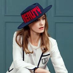 Señoras' Hermoso Madera Disquete Sombrero