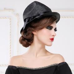Señoras' Fantasía Verano Poliéster con Bowknot Bombín / cloché Sombrero