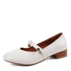 Women's Leatherette Chunky Heel Flats shoes