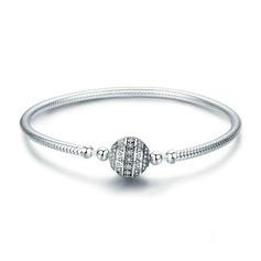 Platino Plateado Cadena delicada Bracelets et manchettes Bracelets De Chaîne - Regalos De San Valentín Para Ella