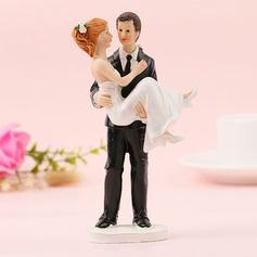 Klassiska par/Mr & Mrs Resin Tårtdekoration (Säljs i ett enda stycke)