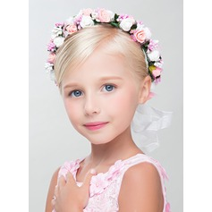 Kunstig Silke med Blomst blomst Pannebånd