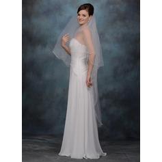 1 couche Voiles de mariée valse avec Bord festonné