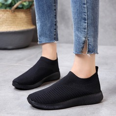 Femmes Tissu Talon plat Chaussures plates chaussures