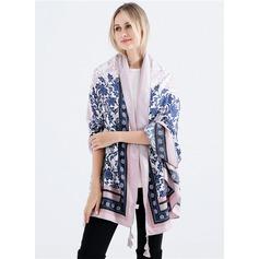Floral Énorme/mode Coton/Lin Écharpe