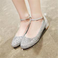 Donna Glitter scintillanti Tacco spesso Stiletto Mary Jane أحذية