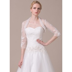 3/4-Length Sleeve Tulle Wedding Wrap