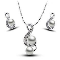 Красивая сплав/посеребренный женские Комплекты ювелирных изделий
